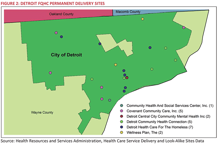FIGURE 2: DETROIT FQHC PERMANENT DELIVERY SITES